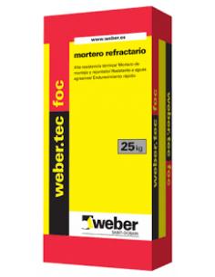 Saco Mortero Refrectario Tec Foc 25kg Weber WEBER - 1