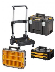 Conjunto Tstak 3 maletines + carrito Dewalt
