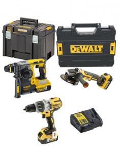Power Kit Dewalt Martillo + Taladro + Amoladora a batería DCK393P3T