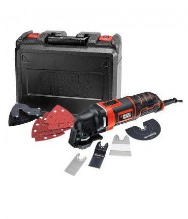 Multiherramienta oscilante Black + Decker MT300KA - 300 W con 11 accesorios y maletín