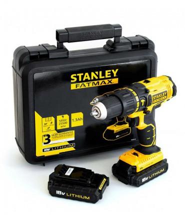 Taladro percutor Stanley FMC626C2K – 18V 2 bat. 1,3Ah con maletín