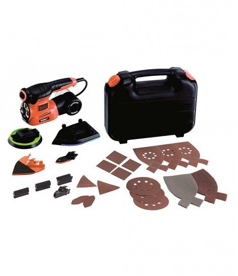 Lijadora multifuncional Black&Decker KA280LK - 220w tecnología autoselect 4 en 1 con 22accesorios y bolsa de transporte