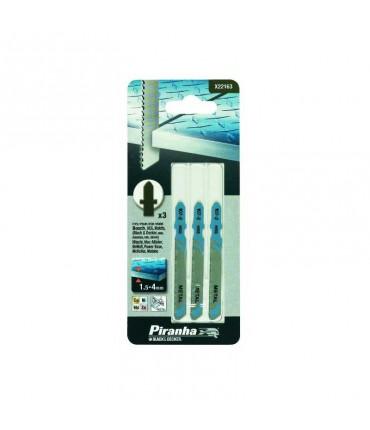 Kit 3 Hojas HSS de 13 a 30mm. Corte Recto para Metal para Caladora (Fijación Bosch) Piranha X22163