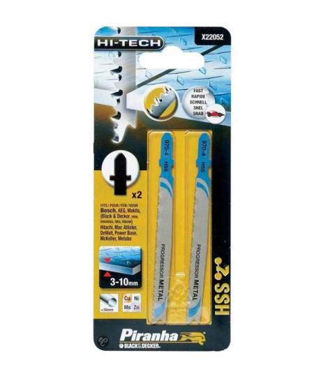 Kit 2 Hojas JBX HI TECH Corte Recto para Caladora ( Fijación Bosch) Piranha X22052