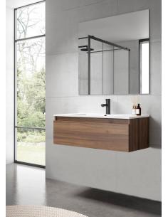 Conjunto de Baño Mueble Box Nogal Valenti + Lavabo Ada VisoBath VISOBATH - 1
