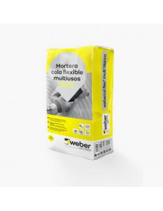 Mortero Cola Flexible Weber Flex 2 Multi Blanco 25kg