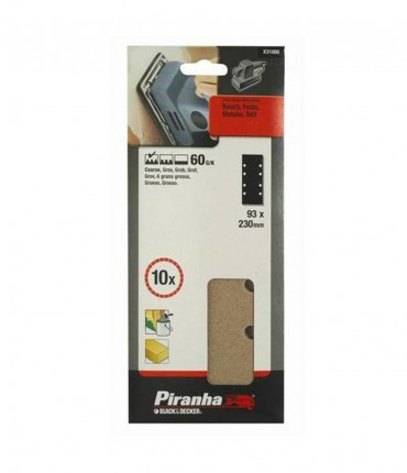 KIT 10 LIJAS PERFORADAS 93X230MM PIRANHA x31080