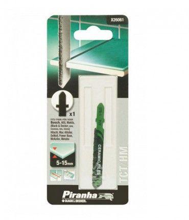 Hoja de TCT para Contornear Azulejos para Caladora (Fijación Bosch) Piranha X26061