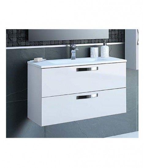 Mueble + Lavabo Slim 100cm blanco VISOBATH