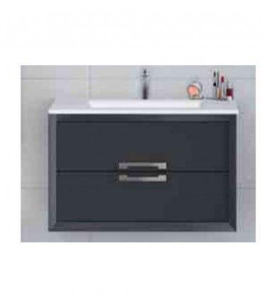 Mueble + Lavabo Decor 80cm Gris oscuro Visobath