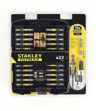 Kit de 22 piezas para Atornillar con adaptador Screwlock Stanley STA88040
