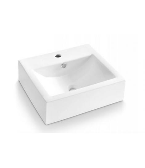 Lavabo sobre encimera rectangular esmaltado bolonia bathco for Lavabo sobre encimera rectangular