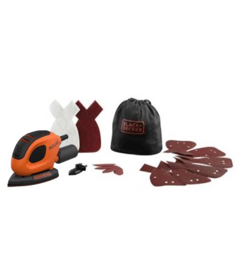 Lijadora de detalle Black+Decker 55w con bolsa y 15 accesorios BEW230BC