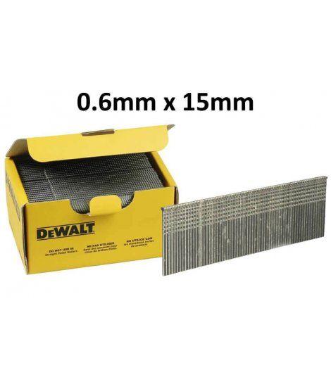 Mini pin sin cabeza para clavadora de acabados 0.6mm x 15mm Dewalt DNBHL2315Z
