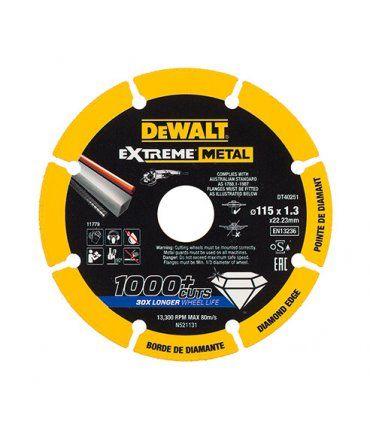 Disco de corte con borde diamantado Extreme Metal Dewalt DT40251