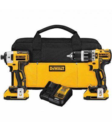 Set Dewalt DCK287D2 18V XR - Atornillador Impacto + Taladro percutor + Bolsa + 2 Baterias LI-ION 2,0Ah