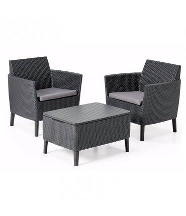 Set de Muebles para terraza Salemo Balcony con mesa almacenaje Curver