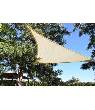 Toldo Vela Triangular Beige 3,6x3,6m Faura