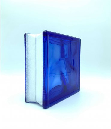 Bloque de vidrio Clear Wave 19x19x8 cm transparente