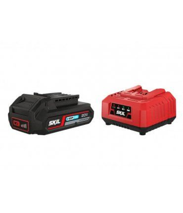 Set batería 20V Max 2,5 Ah «Keep Cool» ión-litio y cargador Skil 3110 AA