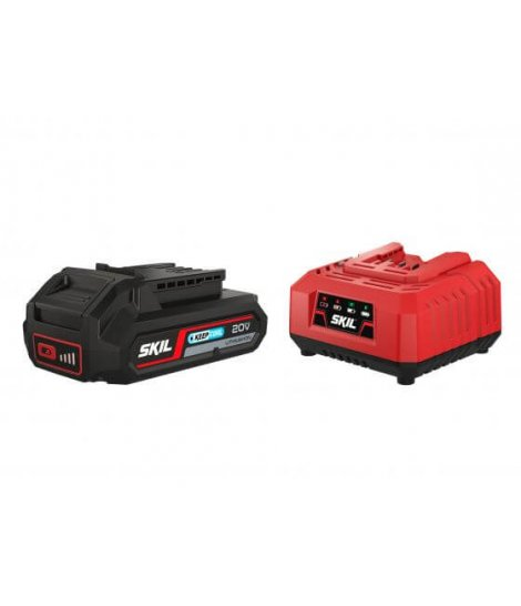 Set batería 20V Max 2,5 Ah «Keep Cool» ión-litio y cargador Skil 3110 AA