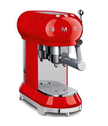 Cafetera expresso roja Smeg