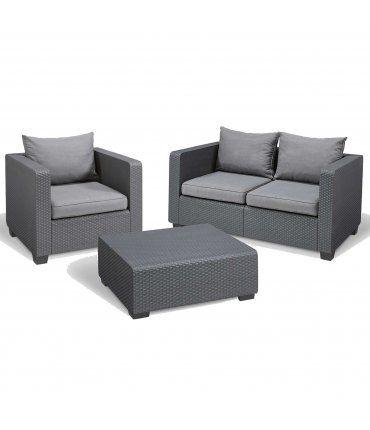 Set de muebles para jardín Salta 3 piezas Curver