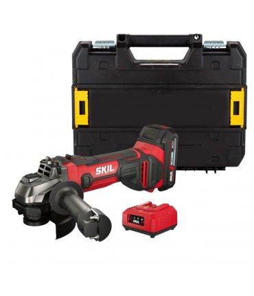Amoladora a batería 20V Max Skil 3920 con batería 2,5Ah y maletín