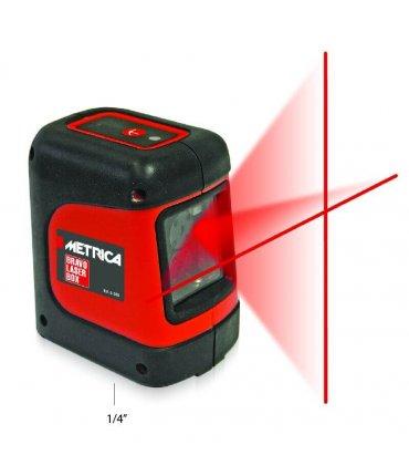 Nivel Láser Autonivelante Líneas Rojas en cruz Metrica Bravo Laserbox