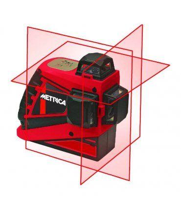 Nível Laser Autonivelante 3 linhas 360º cor vermelho Metrica 3D Junior