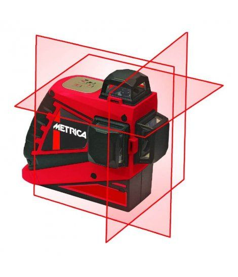 Nivel Láser Autonivelante 3 lineas 360º color rojo Metrica 3D Pro