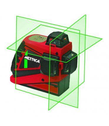 Nivel Láser Autonivelante 3 lineas 360º color verde Metrica 3D Junior