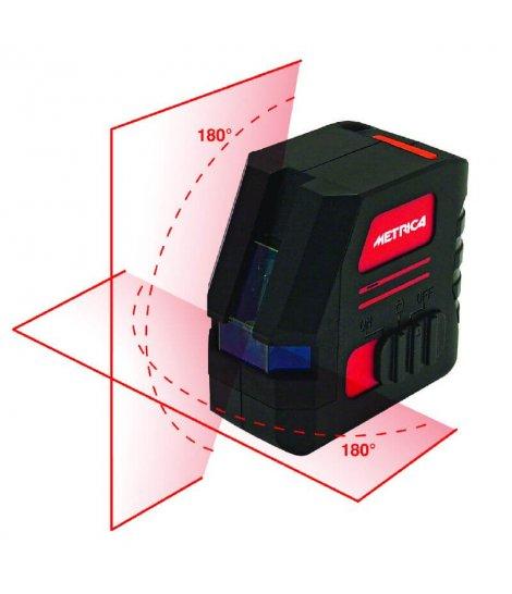 Nivel Láser Autonivelante 2 lineas 180º color rojo Metrica BRAVO 180