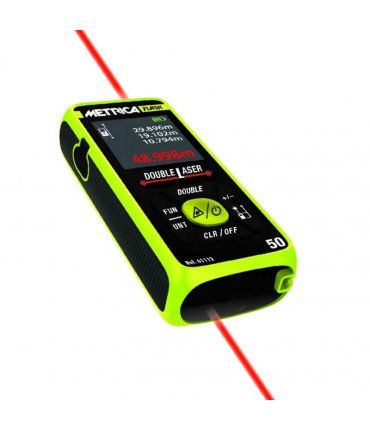 Medidor láser 50m Metrica flash double laser 50