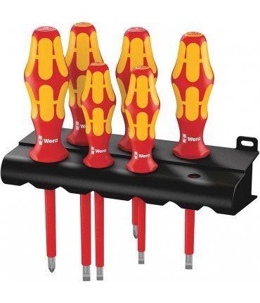 Juego 6 destornilladores aislados (1000 V) Kraftform Plus VDE Wera