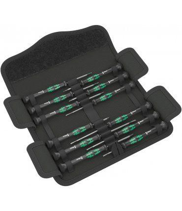 Juego 12 destornilladores electrónicos Kraftform Micro 12 Universal 1 Wera