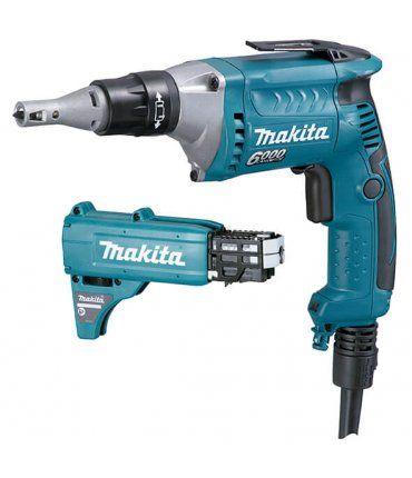 Atornillador para pladur 570w 0-6000rpm con adaptador para tornillos Makita FS6300JX2