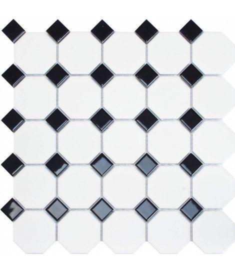 Malla de Gresite Decorativo Oxford Black 29,5x29,5cm Dune