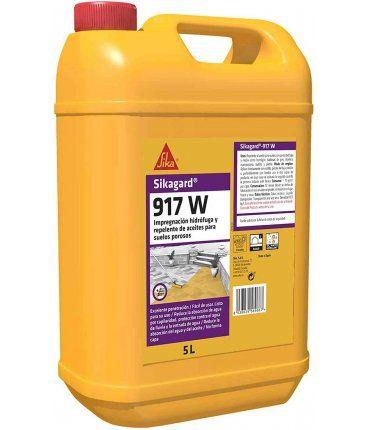 Garrafa Impregnación hidrófuga y repelente de aceite para suelos porosos 5L Sika Sikagard 917 W