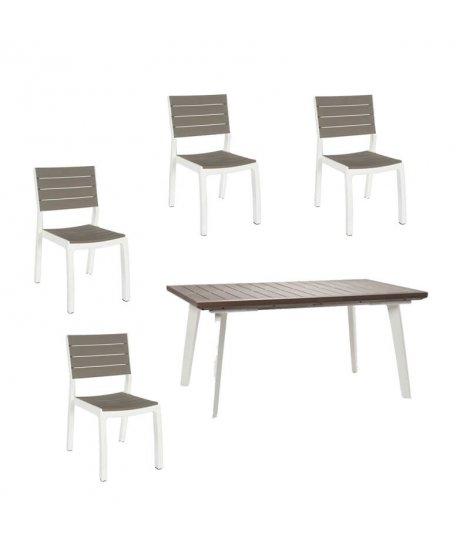 Conjunto de Resina Harmony mesa extensible + 4 sillas Curver