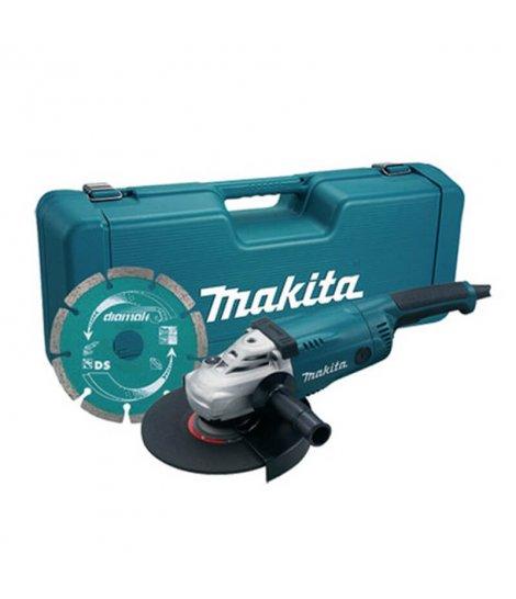 Amoladora Makita 230mm 2200W con maletín y disco diamante GA9020RKD
