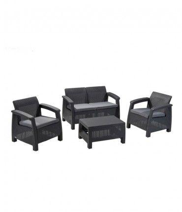 Set de muebles para terraza Corfu 4 piezas marca Curver