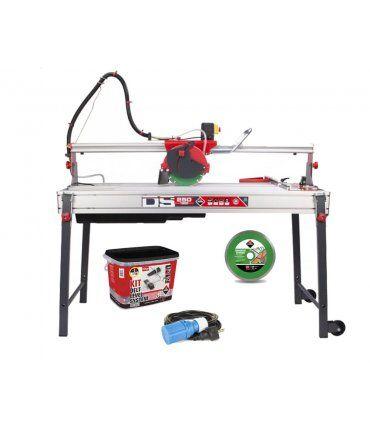 Kit Mesa cortadora Eléctrica DS-250 N 1300 Laser&Level Zero Dust + Cable + Disco + kit delta level system Rubi