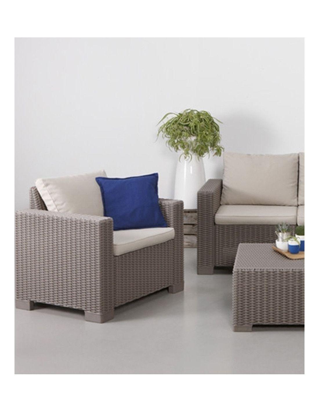 Set de muebles de jard n california 4 piezas marca curver for Muebles de jardin de resina