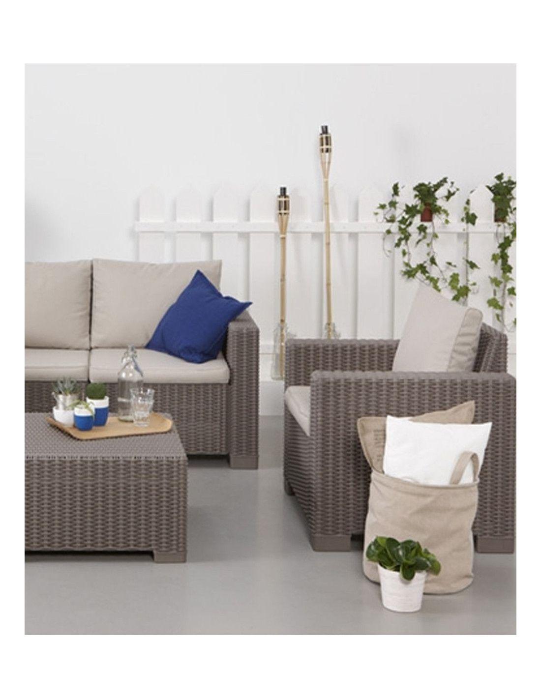 Set de muebles de jardín California 4 piezas marca Curver
