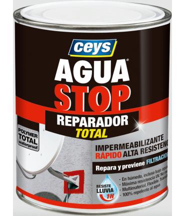 Bote Pintura Impermeabilizante Aguastop Reparador Total Ceys 1kg Rojo