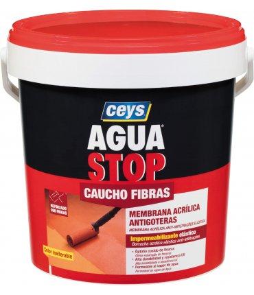 Bote Pintura Impermeabilizante Aguastop Caucho Fibras Ceys 1kg Rojo teja