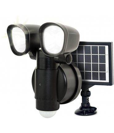 Foco de seguridad Solar con sensor Pir IP44 4W 400Lm 5000K Lececo LEXT4B50S-01