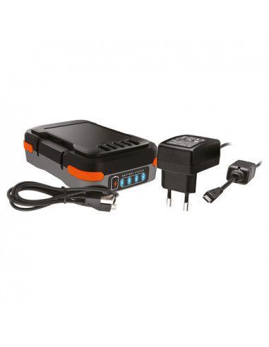 Batería + cable cargador usb 12V...