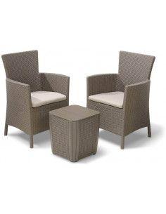 Set de muebles para terraza o balcón 3 piezas Iowa Balcony Keter